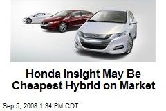 Honda Insight May Be Cheapest Hybrid on Market