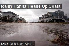 Rainy Hanna Heads Up Coast