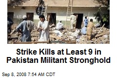 Strike Kills at Least 9 in Pakistan Militant Stronghold