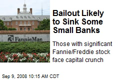 Bailout Likely to Sink Some Small Banks