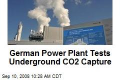 German Power Plant Tests Underground CO2 Capture