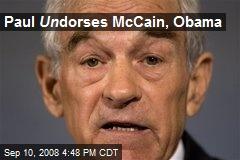 Paul Un dorses McCain, Obama
