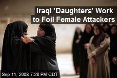 Iraqi 'Daughters' Work to Foil Female Attackers