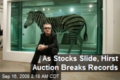 As Stocks Slide, Hirst Auction Breaks Records