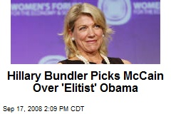 Hillary Bundler Picks McCain Over 'Elitist' Obama