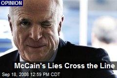 McCain's Lies Cross the Line