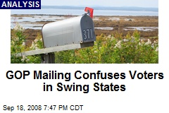 GOP Mailing Confuses Voters in Swing States