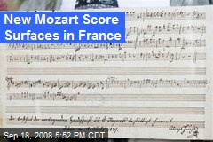 New Mozart Score Surfaces in France