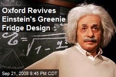 Oxford Revives Einstein's Greenie Fridge Design