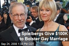 Spielbergs Give $100K to Bolster Gay Marriage