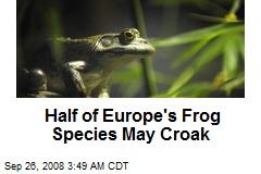 Half of Europe's Frog Species May Croak
