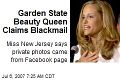 Garden State Beauty Queen Claims Blackmail