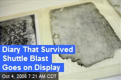 Diary That Survived Shuttle Blast Goes on Display