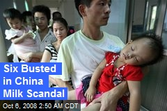 Six Busted in China Milk Scandal