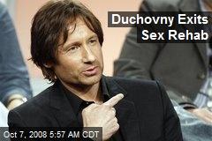 Duchovny Exits Sex Rehab