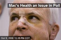 Mac's Health an Issue in Poll