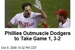 Phillies Outmuscle Dodgers to Take Game 1, 3-2