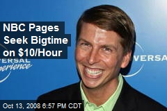 NBC Pages Seek Bigtime on $10/Hour