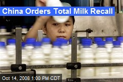 China Orders Total Milk Recall