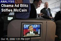 Obama Ad Blitz Stifles McCain