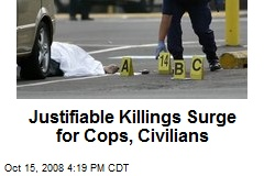 Justifiable Killings Surge for Cops, Civilians
