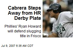 Cabrera Steps Away from HR Derby Plate