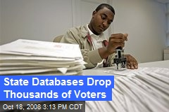 State Databases Drop Thousands of Voters