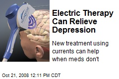Electric Therapy Can Relieve Depression