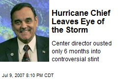 Hurricane Chief Leaves Eye of the Storm