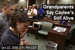 Grandparents Say Caylee's Still Alive