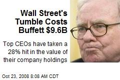 Wall Street's Tumble Costs Buffett $9.6B