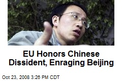 EU Honors Chinese Dissident, Enraging Beijing
