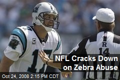 NFL Cracks Down on Zebra Abuse
