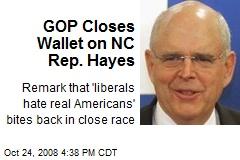 GOP Closes Wallet on NC Rep. Hayes