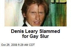Denis Leary Slammed for Gay Slur