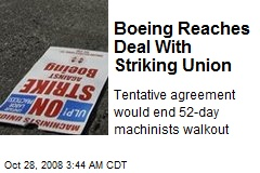 Boeing Reaches Deal With Striking Union