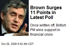 Brown Surges 11 Points in Latest Poll