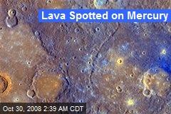 Lava Spotted on Mercury