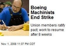Boeing Machinists End Strike