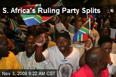 S. Africa's Ruling Party Splits