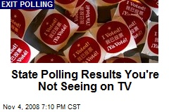 State Polling Results You're Not Seeing on TV