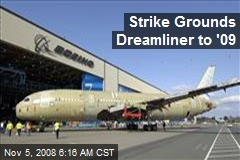 Strike Grounds Dreamliner to '09