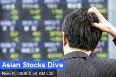 Asian Stocks Dive
