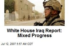 White House Iraq Report: Mixed Progress