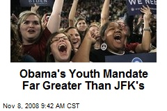 Obama's Youth Mandate Far Greater Than JFK's