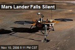 Mars Lander Falls Silent