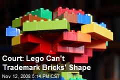 Court: Lego Can't Trademark Bricks' Shape