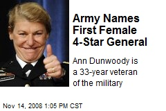 Army Names First Female 4-Star General