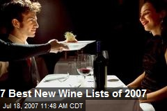 7 Best New Wine Lists of 2007