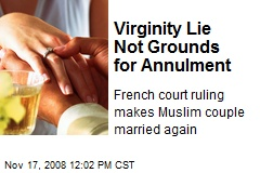Virginity ruling French